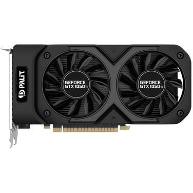 Видеокарта 4Gb Palit GeForce GTX 1050Ti DUAL (GDDR5, DVI+HDMI+DP) RTL