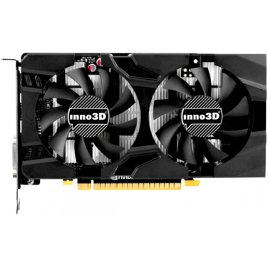 Видеокарта 4Gb PCI-E Inno3D GeForce GTX1050Ti TwinX2, GDDR5, 128bit, DVI+HDMI+DP (N105T-1DDV-M5CM)