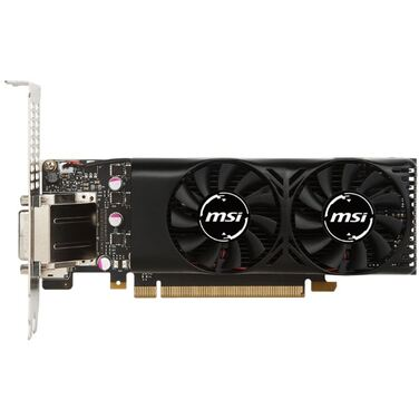 Видеокарта 2Gb MSI GeForce GTX 1050 2GT LP, GDDR5, Dual Fan, OC, DL-DVI-D, HDMI, DP RTL